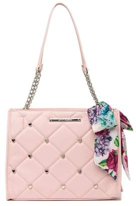 f39facd676d Betsey Johnson Quilted Heart Stud Satchel
