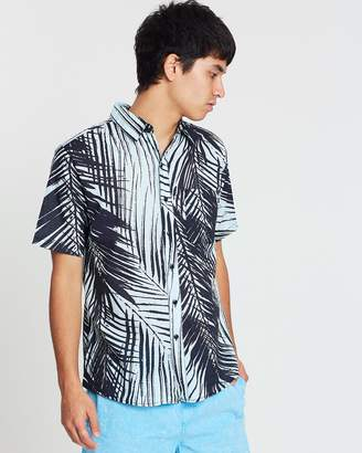 Rusty Night Palm Short Sleeve Shirt