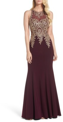 Women's Xscape Embroidered Mermaid Gown $318 thestylecure.com