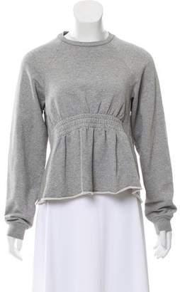 Alexander Wang Elasticized Ruffled Sweatshirt