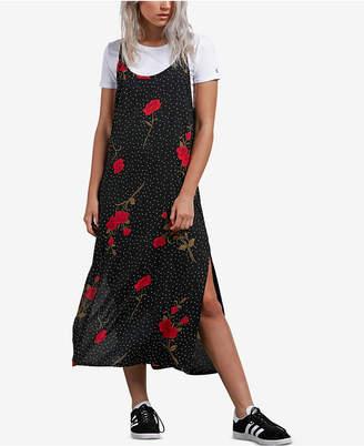 Volcom Juniors' End of the Rose Printed Slip Dress
