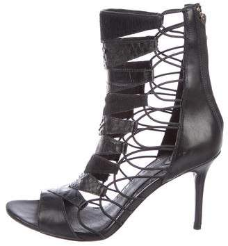 Brian Atwood Leather Caged Sandals