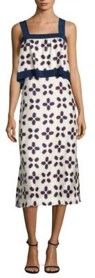 Tory Burch Avila Popover Silk Dress $495 thestylecure.com