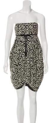 Anna Sui Lace Mini Dress black Lace Mini Dress