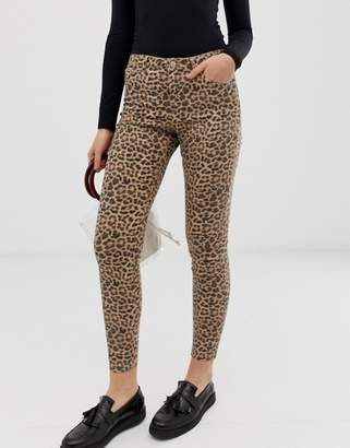 B.young leopard print jeans