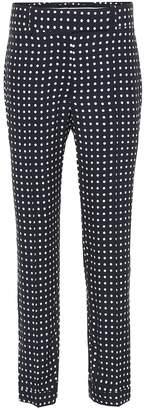 Haider Ackermann Polka-dot cropped trousers