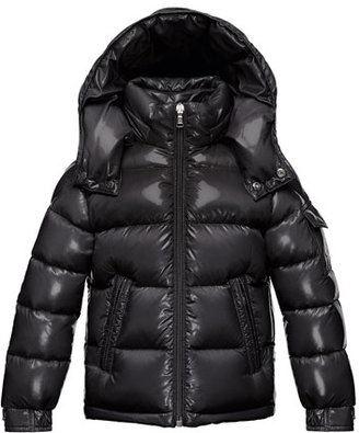 Moncler Maya Quilted Down Jacket, Black, Size 8-14 $580 thestylecure.com