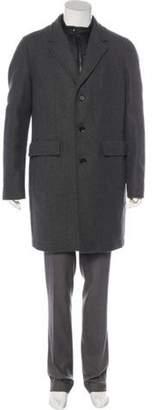 Belstaff Virgin Wool-Blend Layered Overcoat wool Virgin Wool-Blend Layered Overcoat