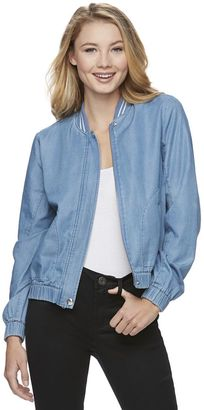 Juniors' Candie's® Denim Bomber Jacket $58 thestylecure.com
