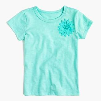 J.Crew Girls' embellished flower T-shirt