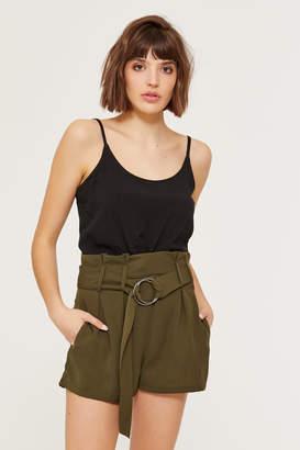 Ardene Loop Belted Paper Bag Shorts
