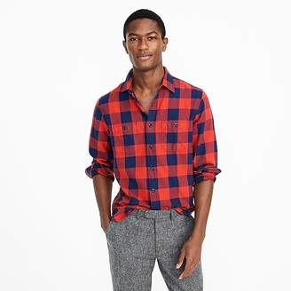 J.Crew Midweight flannel shirt in buffalo check