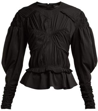 Isabel Marant - Ullo Ruched Top - Womens - Black