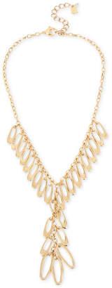 "Robert Lee Morris Soho Gold-Tone Shaky Link Lariat Necklace, 17-1/2"" + 3"" extender"