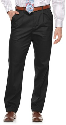 Croft & Barrow Men's Classic-Fit Pleated No-Iron Stretch Khaki Pants