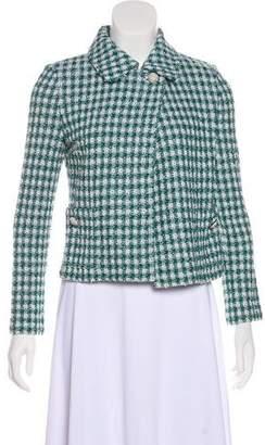 St. John Check Tweed Knit Jacket w/ Tags