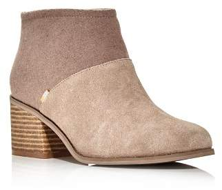 Toms Women's Lacy Round Toe Suede Bootie