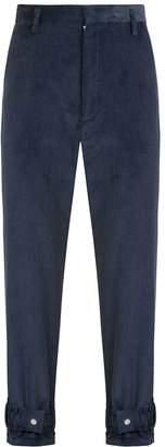 1x1Studio - Blue Cord Hem Strap Trousers