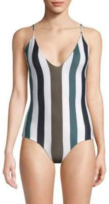 Mikoh Las Palmas Solid One-Piece Swimsuit