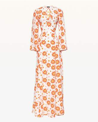 Juicy Couture Dotted Daisy Silk Maxi Dress