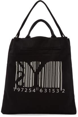 Y's Ys Black Barcode Print Tote