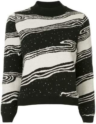MAISON KITSUNÉ striped knit sweater