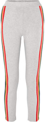 Allude Striped Wool-blend Track Pants - Gray