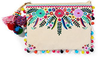 Steven By Steve Madden Embroidered Wristlet $75 thestylecure.com