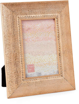 """Sheffield Home 4"""" x 6"""" Textured Rose Gold-Tone Picture Frame"""
