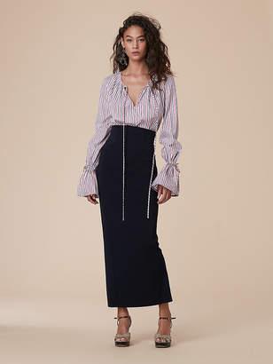 Diane von Furstenberg High Waisted Fitted Midi Skirt