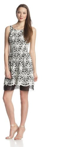 Donna Morgan Women's Textured-Lace Dress
