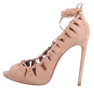 Alaia Suede High Heel Sandals