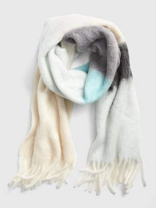 Gap Brushed Colorblock Fringe Scarf