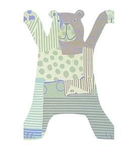 Brink & Campman Xian Kids Bear Grey Rug 115 x 85Cm