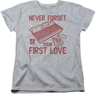 Atari Video Games Your First Love Logo And Vintage Console Women's T-Shirt Tee