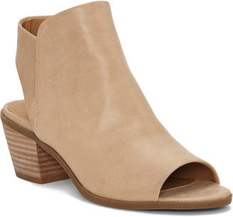 Lucky Brand Baaka Leather Open Toe Bootie