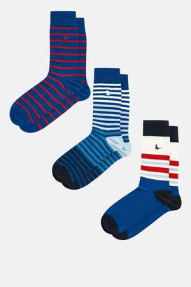 Jack Wills Landsall Multi Colour 3pk Socks