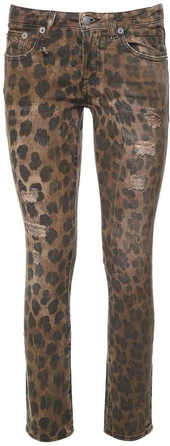 R 13 Kate Leopard-print Denim Jeans
