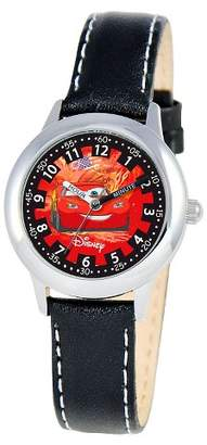 Cars Boys' Disney Stainless Steel Time Teacher Watch - Black