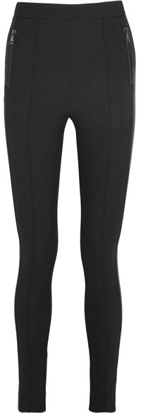 Moncler Moncler - Fleece-lined Twill Leggings - Black