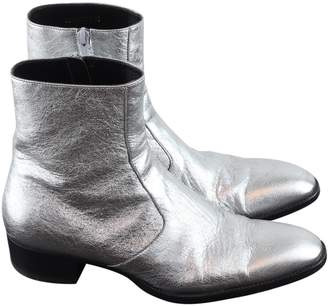 Saint Laurent Silver Patent leather Boots