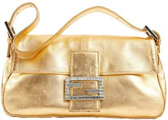 Fendi Baguette Leather Clutch Bag
