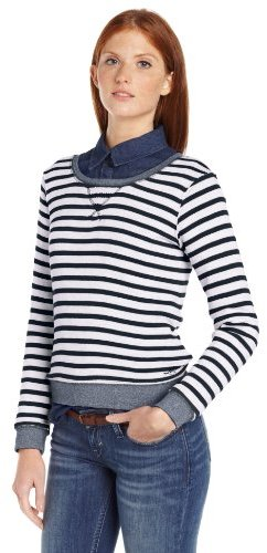 Levi's Women's Striped French Terry Pullover