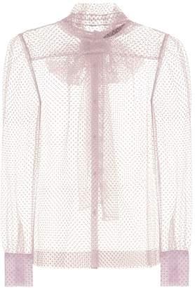 ALEXACHUNG Sheer blouse