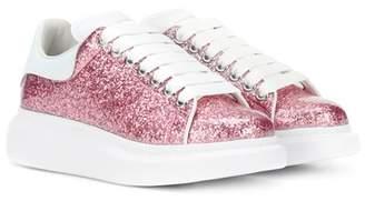 Alexander McQueen Glitter platform leather sneakers