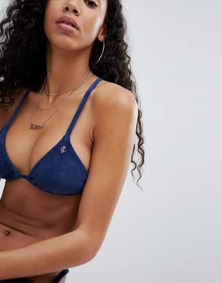 Juicy Couture (ジューシー クチュール) - Juicy Couture Velvet Effect Bikini Top