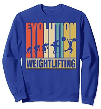 Vintage Evolution Of Weightlifting.Funny Sweatshirt Gift