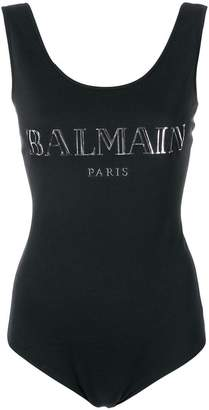 Balmain logo printed bodysuit