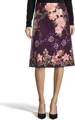 5twelve A-Line Floral-Embroidered Skirt
