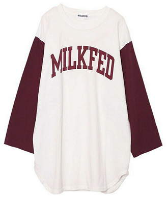 Milkfed. (ミルクフェド) - MILKFED. FOOTBALL TEE ミルクフェド カットソー